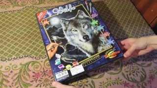 Обзор раскраски по номерам от Schipper Волки (Wolf)