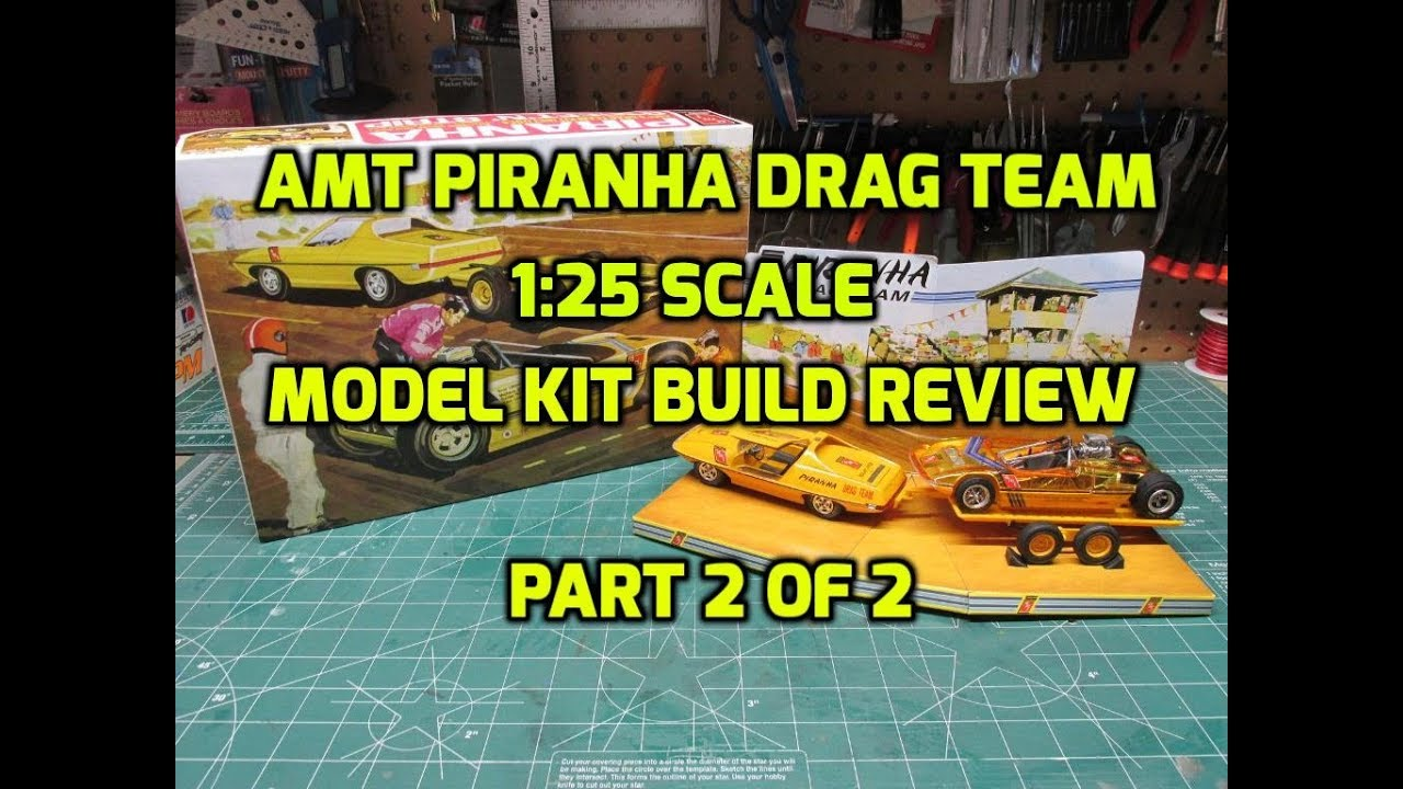 Download AMT PIRANHA DRAG TEAM 1/25 SCALE MODEL KIT REVIEW PART 2 OF 2 AMT1113