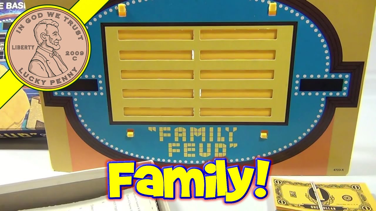Family Feud Board Game #4723, 1977 Milton Bradley - Question Game Based on  T V  Show