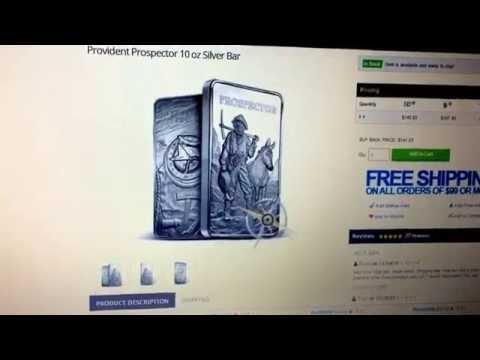 Cyber Monday .49¢ over spot Silver 10oz Prospector bar         Provident Metals