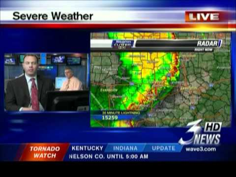 WAVE 3 TV - Last 14 Minutes of Severe Weather Coverage - 12:01-12:14am  5/26/2011