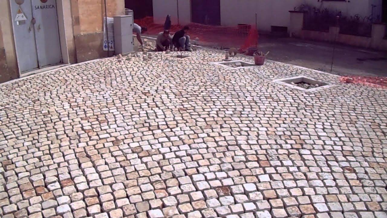 Plm pavimenti in pietra posa di sampietrini di trani mosaico da esterno a lecce alezio taviano - Mosaico per esterno ...