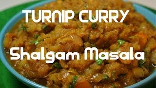 Turnip Curry - Indian Shalgam - Shaljam Masala vegan
