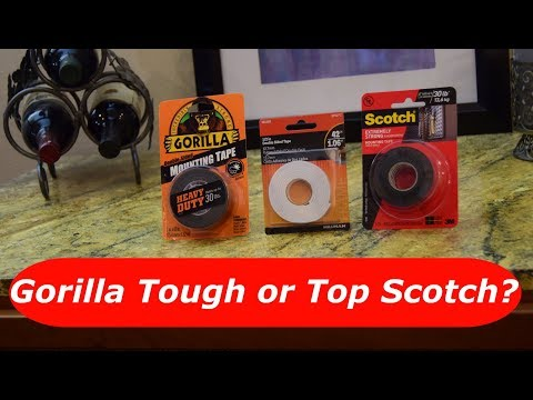 Mounting Tape Showdown: Gorilla V. Scotch - the strongest of the strongest, and the winner is....