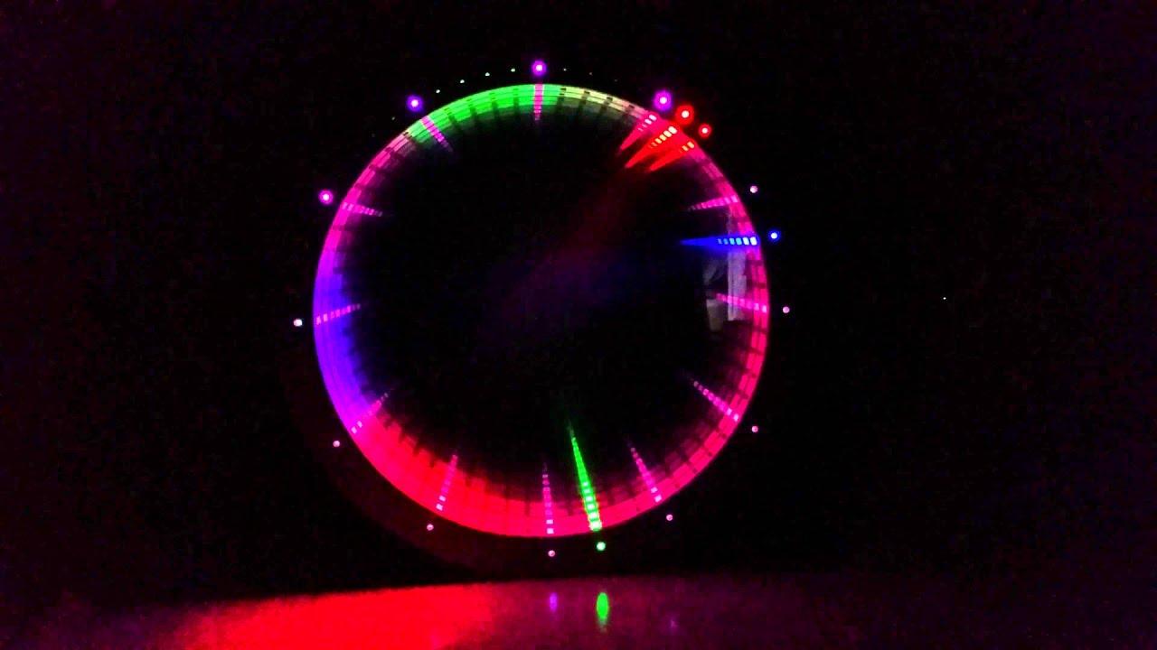 Demo mode of the 3D Infinity Neopixel Ring Clock