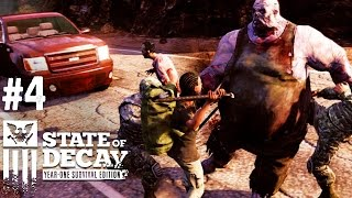State of Decay: Year One Survival Edition Gameplay Walkthrough Part 4 - FAT ZOMBIES