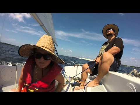 Sailing on St Andrews Bay in Panama City Florida