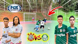 CORINTHIANS vs PALMEIRAS 5 vs 5 CLASSIC PAULIST GAME! FOOTBALL CHALLENGES ‹Rikinho›