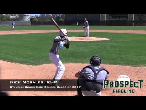 Nick Morales Prospect Video, RHP, St. John Bosco High School Class of. 2017.