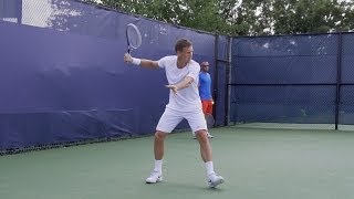 Tomas Berdych Forehand In Super Slow Motion - 2013 Cincinnati Open
