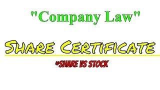 Share certificate | Company law | B.com open and regular | #companylawforb.com