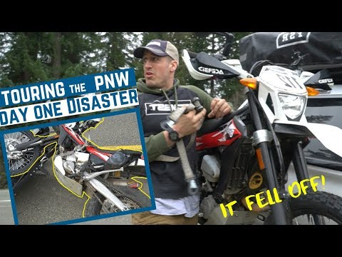 Dirt Bike Falls Off Hitch Carrier on Highway! 😱| Trayvax Tour Day One!