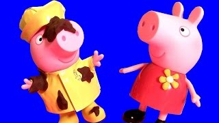 Peppa Pig Raincoat Doll Rainy Day Play-Doh Muddy Puddles Surprise Eggs Huevos Sorpresa