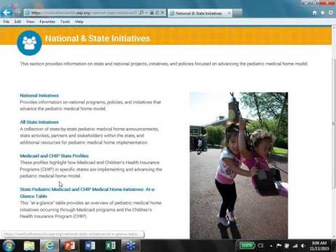 Resource Tutorial: Pediatric Medical Home State Based Resources