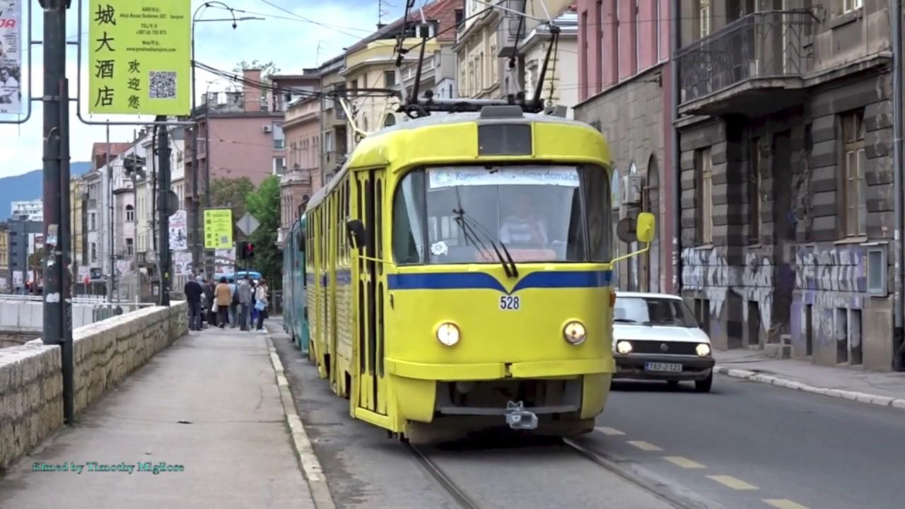 Trams In Sarajevo Bosnia Herzegovina 2019 Youtube