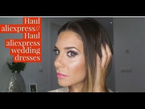 dbc359686d aliexpress bodas    haul aliexpress wedding dresses - YouTube