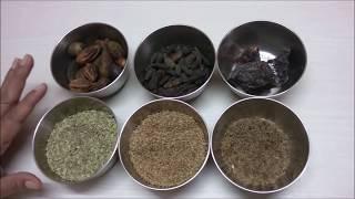 وصفات صحية#كيفية جعل Churan (الجهاز الهضمي الخليط) في المنزل في الهندية || محلية الصنع Churan ||