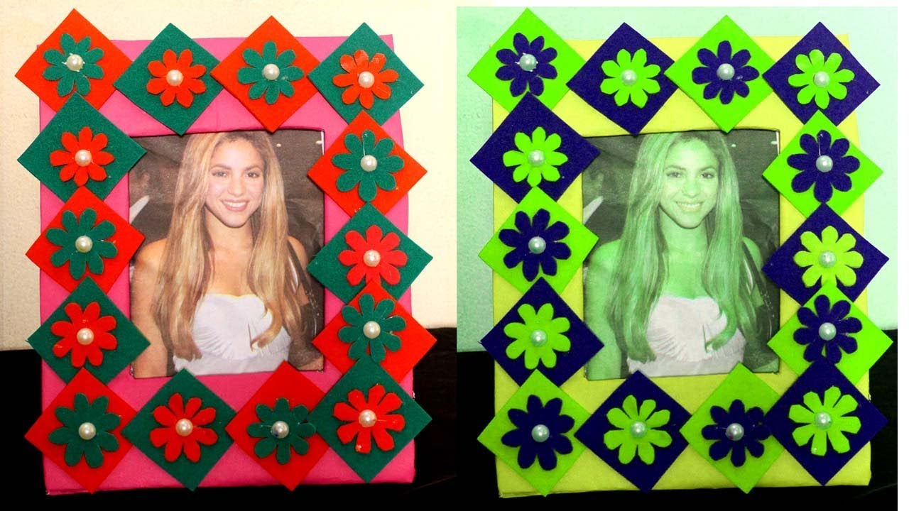 Diy How To Make Photo Frame At Home With Waste Material Photo