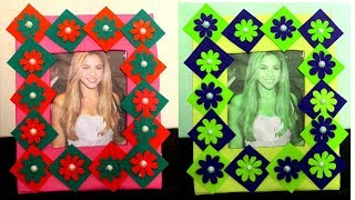 DIY - How to make photo frame at home with waste material - Photo frame decoration ideas