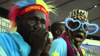 Dr Congo Fans Before Dr Congo Vs Tunisia - Orange Africa Cup Of Nations, Equator