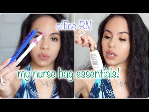 WHAT'S IN MY NURSE BAG?! EVERYTHING! | OFFICE RN EDITION