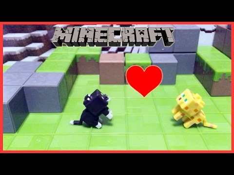 A Minecraft Short Stop Motion / KITTY LOVE / Gamer Chad
