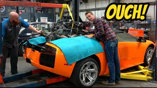 Looking Inside My Destroyed Lamborghini Murcielago Transmission: MASSIVE DAMAGE!