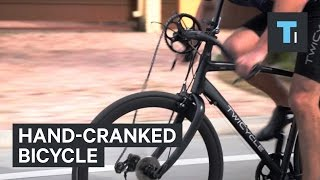 Hand-cranked bicycle
