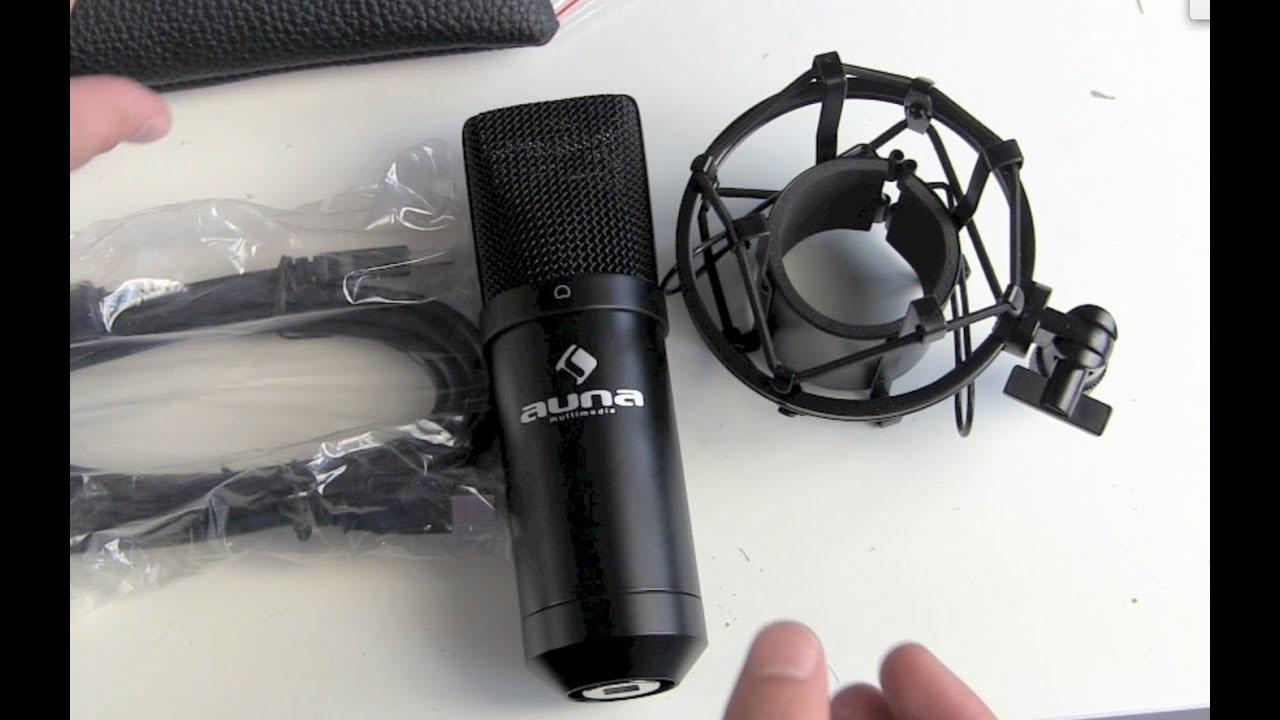 Auna MIC 900B USB Kondensator Mikrofon Unboxing - YouTube