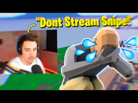 I Stream Sniped Lazarbeam, And He Said This! (Roblox Strucid)