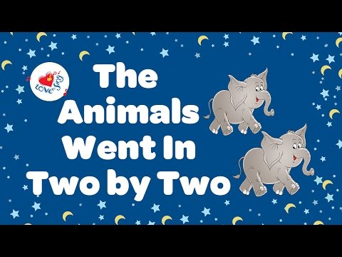 The Animals went in Two by Two Lyrics 🐘  | Nursery Rhymes | Children Love to Sing