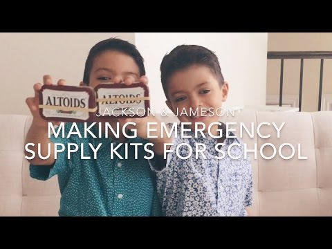 Kids Making Emergency Supply Kits For School