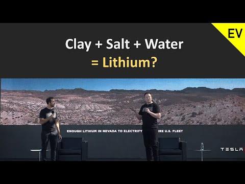 Tesla Battery day: Clay + Salt + Water = Lithium?