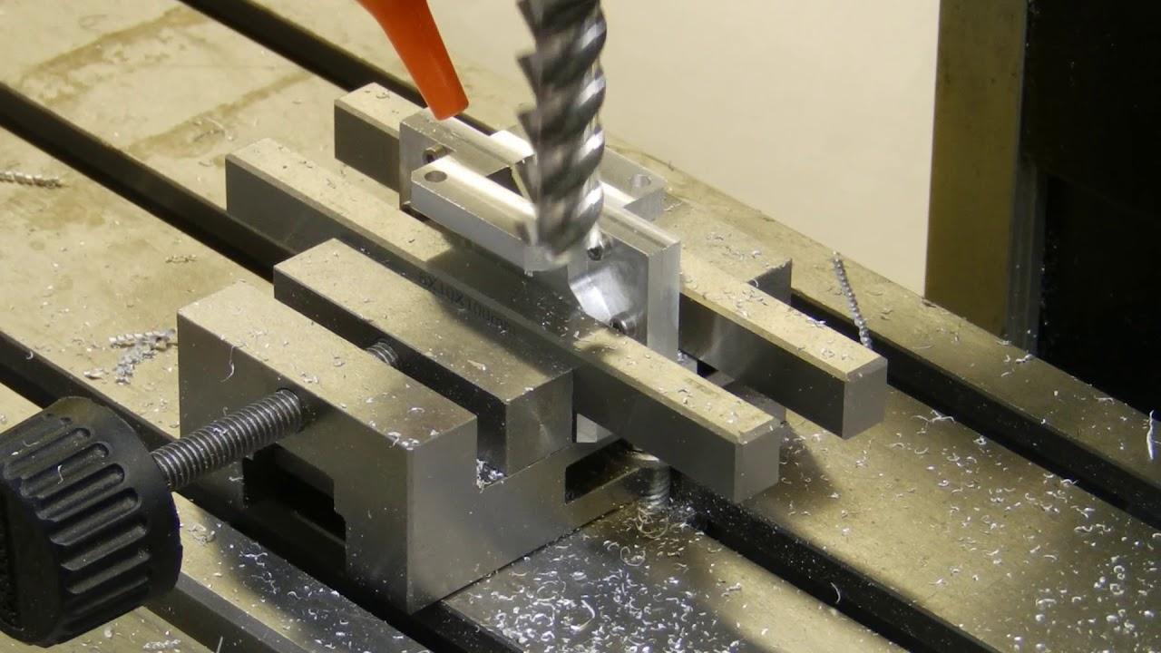 Proxxon FF500 CNC  Making double waveguide turn  Pt 5  Input flange