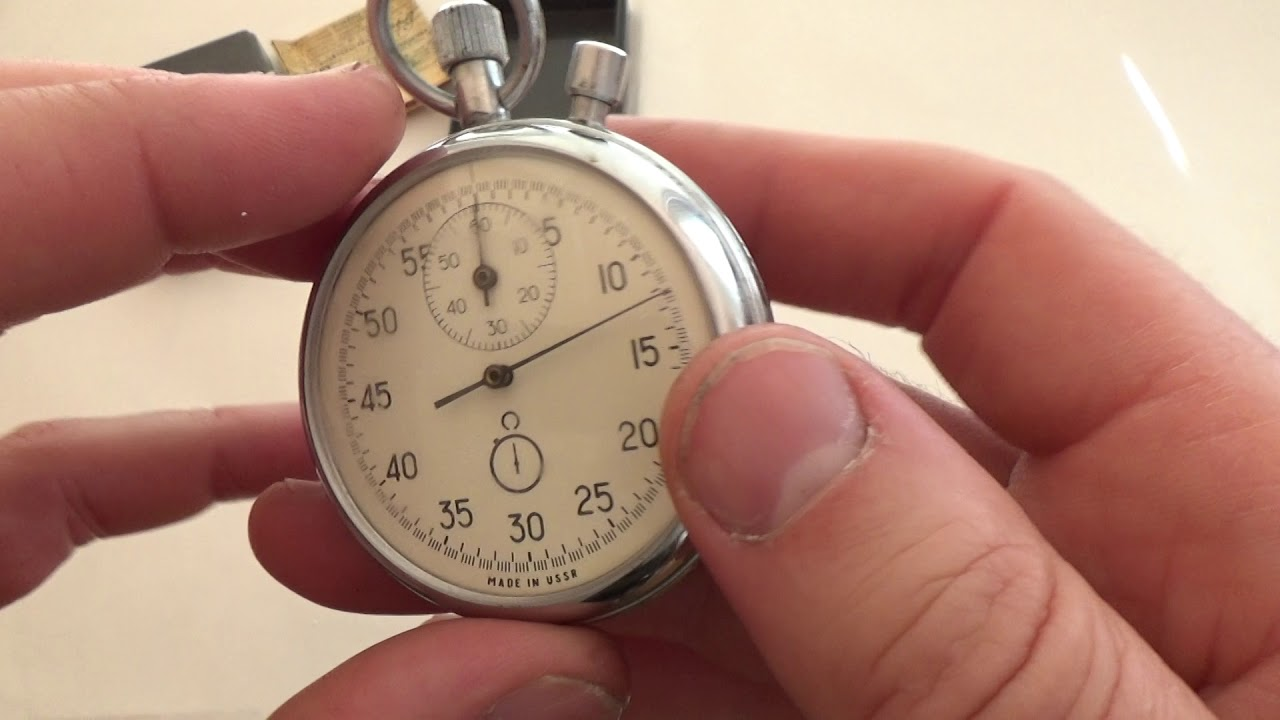 a32d9dc79198 AGAT Vintage USSR stop watch stopwatch 16 jewels 4765 - YouTube