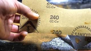 オパール原石の研磨 手磨き