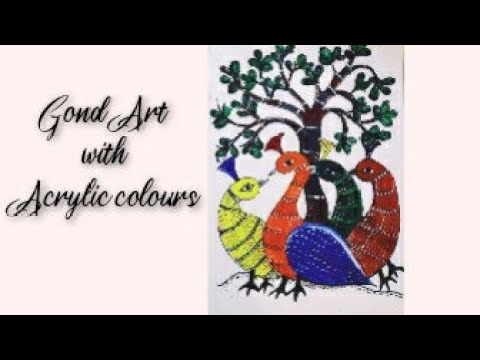 Gond Art painting tutorial/ Indian folk art / step by step painting  for beginners