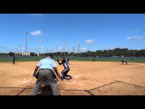 Virginia Irby throws out speedster at DeMarini Invitational 7/13/14