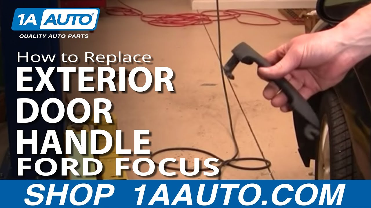 How To Install Repair Replace Broken Outside Door Handle Ford ...