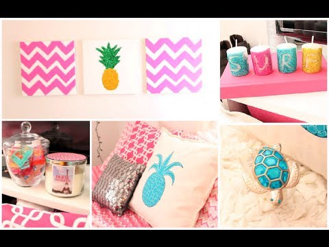 Diy summer room decor organization tips youtube for Diy decorating bedroom ideas