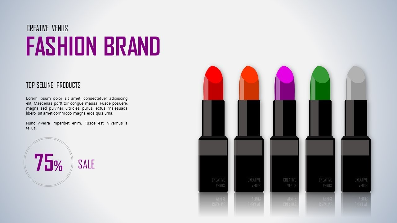 How To Design Presentation Slide for Fashion, Cosmetics Brand in Microsoft  Office365 PowerPoint PPT
