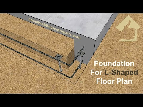 Concrete Building Foundation For L-Shaped Floor Plan