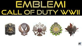 ALTRI 10 EMBLEMI MULTIPLAYER CALL OF DUTY WWII (WW2) ITA | FANMADE