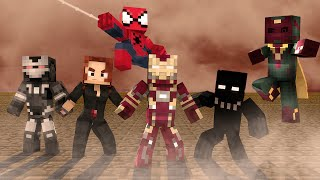 Minecraft :  TIME DO HOMEM DE FERRO NA GUERRA CIVIL ( Sky Wars Minecraft)