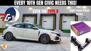 Honda Civic Type R (FK8) | Let's Improve Shift Quality! Acuity Pedal Spacer Install