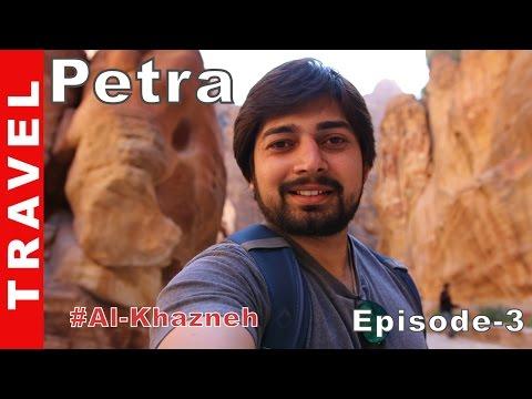 Petra treasury Al Khazneh Jordan Travel Vlog Episode 3