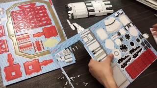 Building the 3d puzzle of saturn v rocket