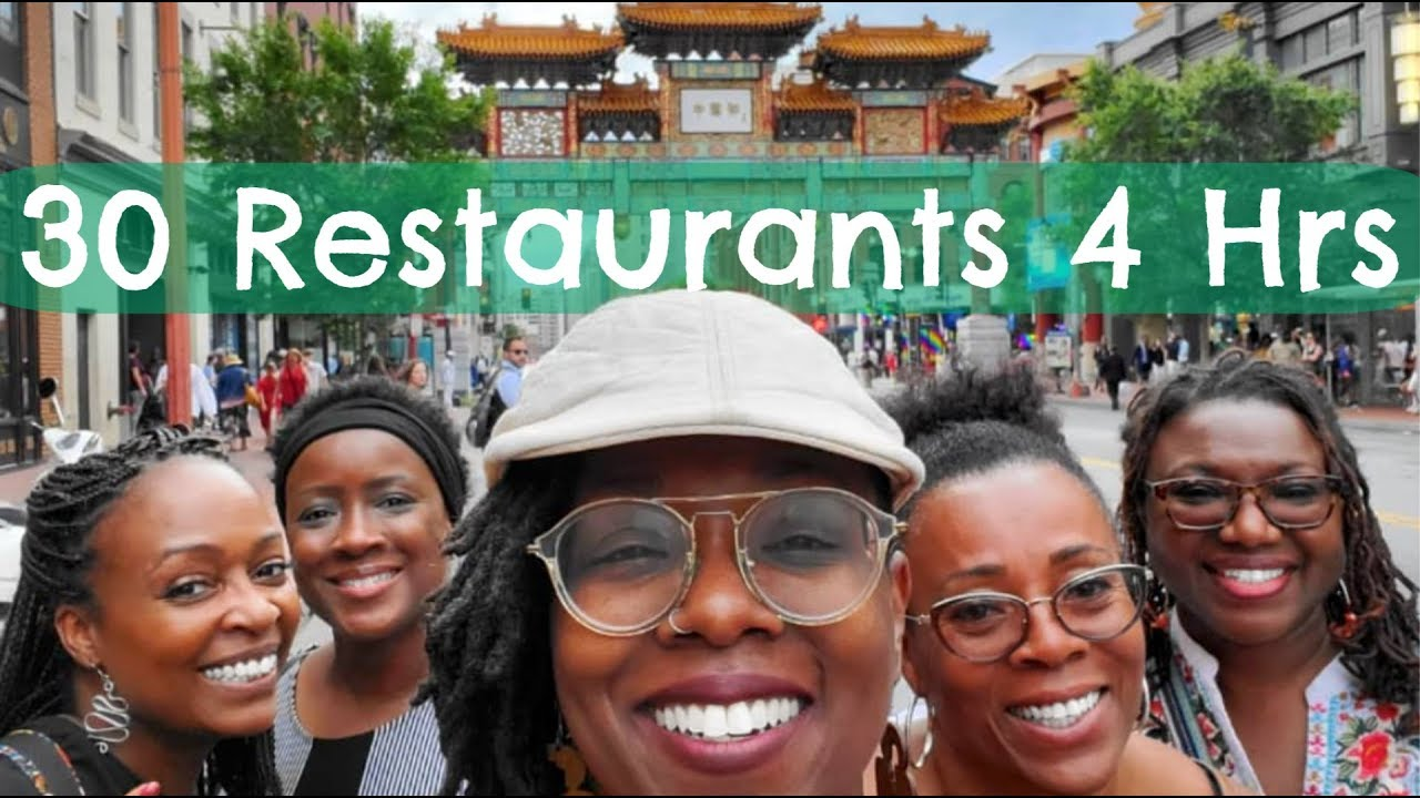 Eating at 30 Restaurants in 4 Hours!!! Dine N Dash DC 2019 Challenge