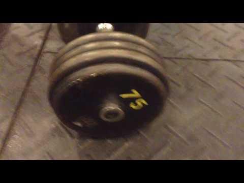 Mark Mcentee - 75 lb. Incline Dumbbell Press x6
