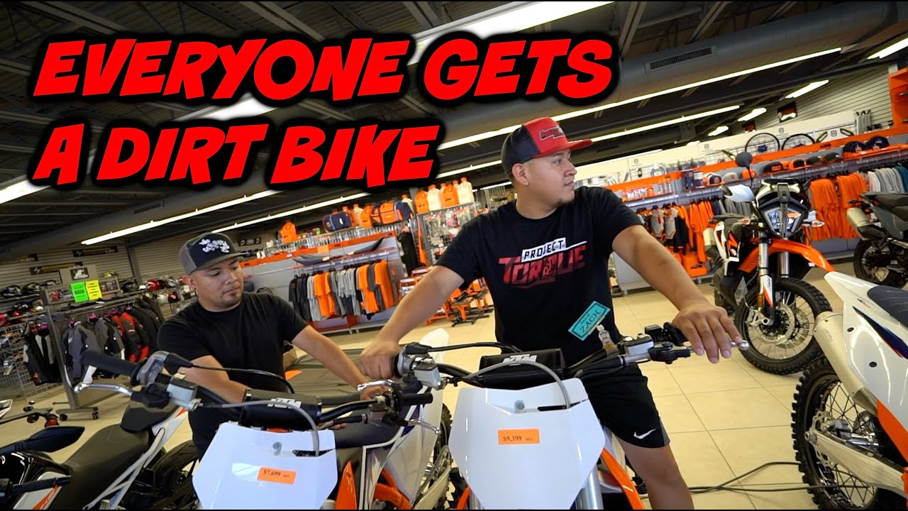 BUYING DIRT BIKES FOR ALL MY FRIENDS!